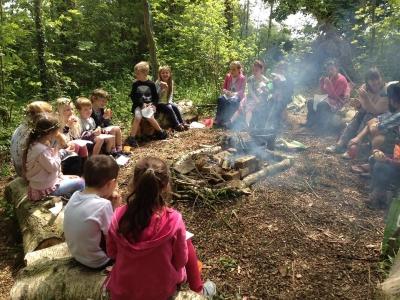 archers campfire rocks